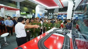 Security, fire safety, rescue exhibition opens in HCM City