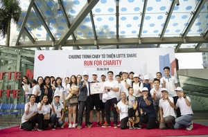 Lotte Group runs for charity