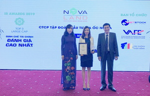 Novaland named among top 3 companies for investor relations