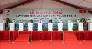 Work starts on South Korea-funded electronic component factory in Vinh Phuc