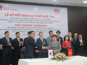 LG, Da Nang agree to build R&D centre for car components