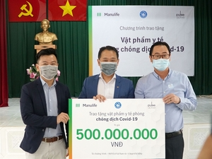 Manulife donates $21,600 for medical supplies for COVID-19 frontline workers