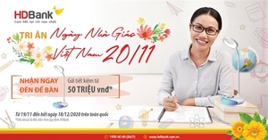 HDBank begins $64,000 gift programme to mark Vietnam Teachers Day