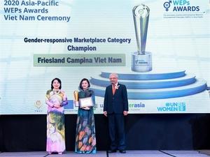 Friesland Campina Viet Nam wins Women's Empowerment Principles (WEPs) Awards