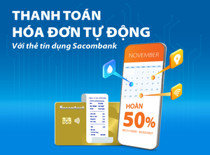 Customers to get 50% refund when paying with Sacombank credit cards