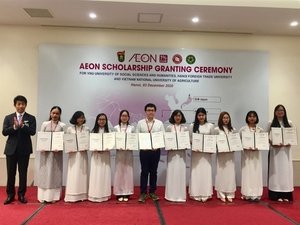 AEON Corporation grants 60 scholarships to VN university students