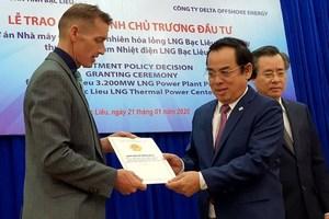 Bac Lieu hopes $4b Singapore LNG project will attract more FDI