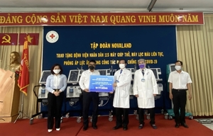 Novaland Group presents healthcare equipment to People's Hospital 115