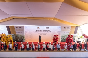 Construction of giant industrial park begins in Long An Province