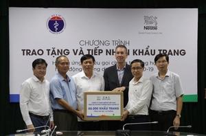 Nestlé donates 88,000 medical face masks to MoH