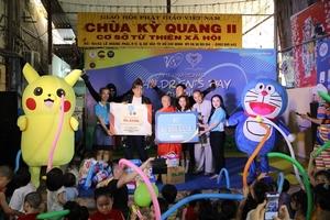 250 disadvantaged childrenreceivegifts on Children's Day