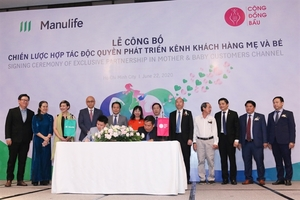 Manulife Vietnam, Cong Dong Bau sign 5-year partnership agreement