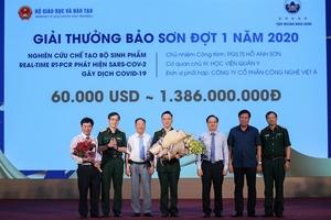 COVID-19 test kit wins Bao Son award worth $60,000