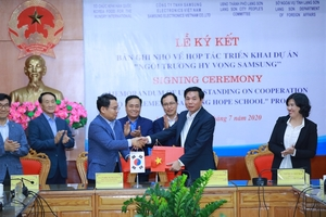 Samsung continues to build its 4th HOPE school