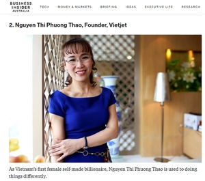 Vietjet's CEO named among 100 people transforming business in Asia