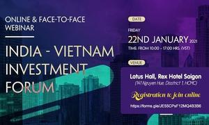 Investors to explore businessopportunities at India - Viet Nam investment forum
