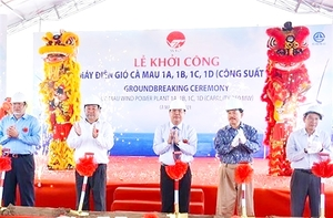 Construction of wind power project begins in Ca Mau