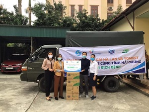 Dutch Lady, Yomost and Frisco donate milk to outbreak-hit Hai Duong Province