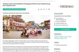 Credendo: Viet Nam continues successful economic story beyond a contained pandemic
