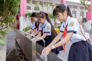 Students learn about handwashing, personal hygiene undernew 'sustainable education' project