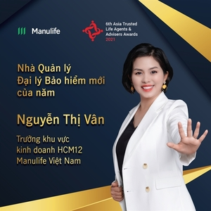 Manulife Vietnam agent wins Asia Trusted Life Agents & Advisers Awards