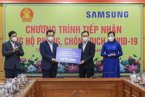 Samsung Vietnam donatesnearly VND11 billion to Thai Nguyen Province in COVID-19 fight