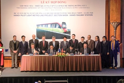 Ha Noi urban railway gets infusion of French funds