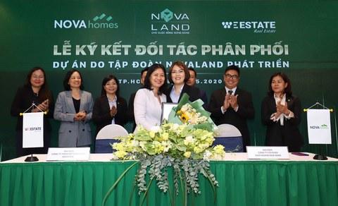 Many prestigious partners to distribute Novaland's products